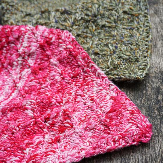 Lahinch bandana cowl rundschal strickanleitung pattern detail tip spitze