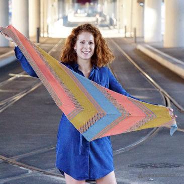 leucate shawl tuch donnarossa knitting pattern strickanleitung ganz