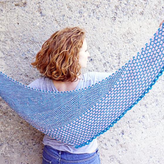 Rohrspitz shawl Tuch knitting pattern Strickanleitung donnarossa ganz full