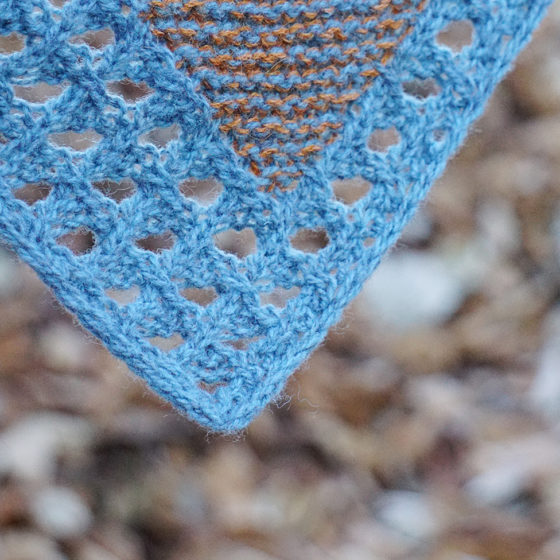 Pizol shawl donnarossa knitting pattern lace border tip