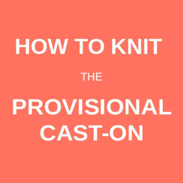 How to knit the provisional cast-on donnarossa knitting tutorial technique
