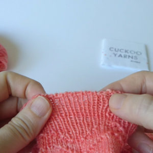 How to knit the invisible ribbed bind-off