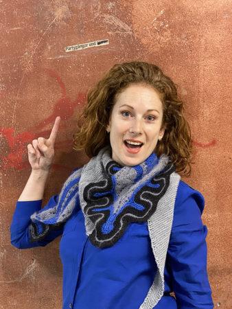 Frida shawl blue party donnarossa