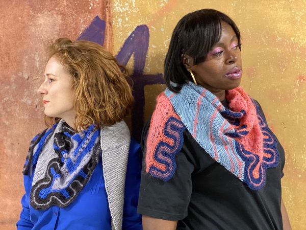 Frida shawls back to back donnarossa