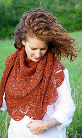 mehndi knitting pattern shawl wearing donnarossa