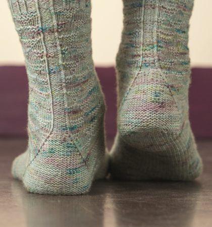 Churfirsten sock knitting pattern donnarossa triangular heel