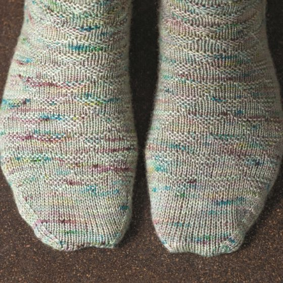 Churfirsten sock knitting pattern donnarossa toes