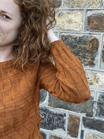 Equiliber cuff and yoke detail knitting pattern donnarossa
