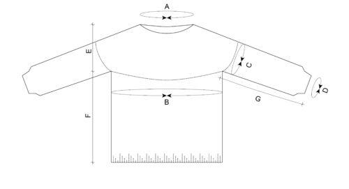 Equiliber knitting pattern schematic donnarossa
