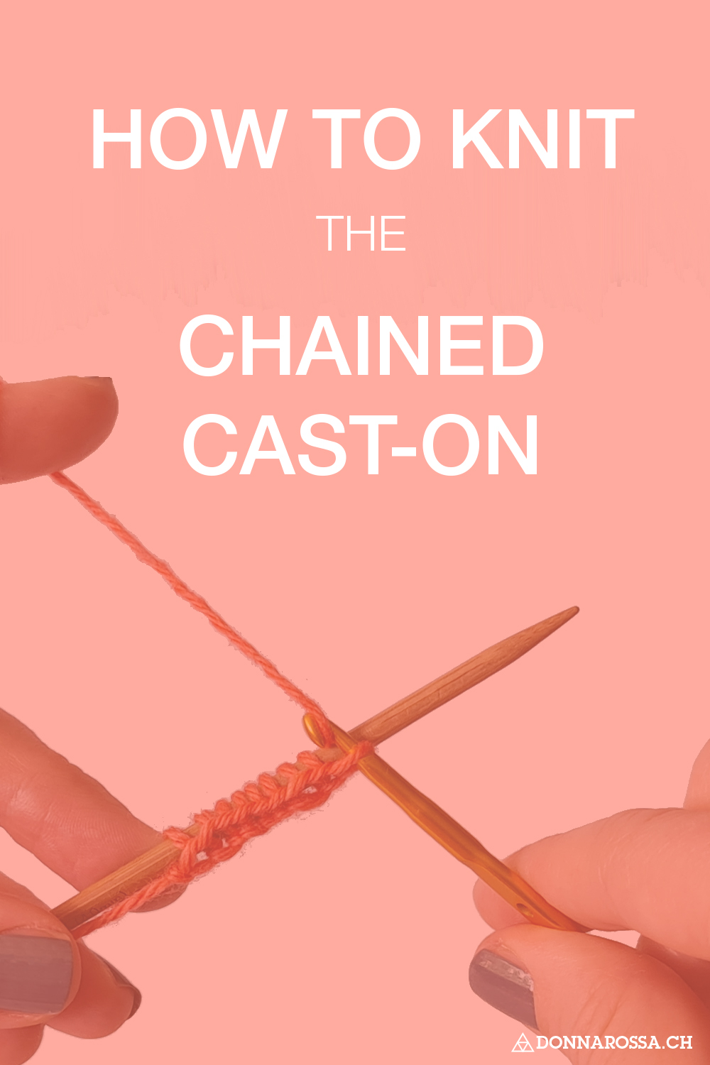 how to knit the chained cast-on tutorial donnarossa