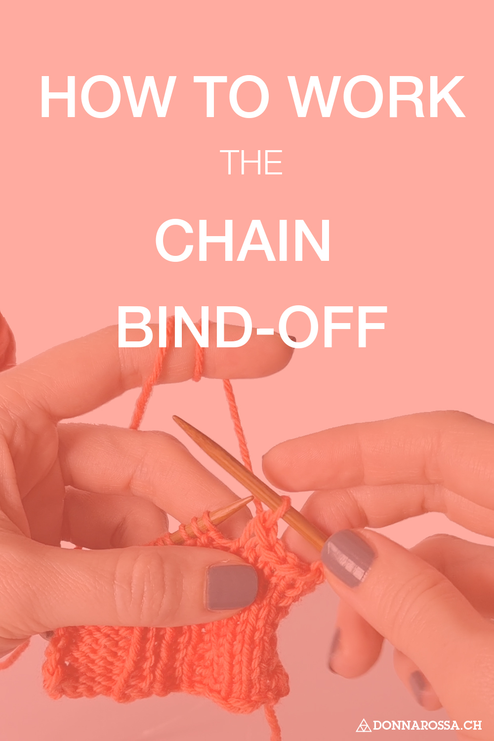 How to work the chain bind-off knitting tutorial donnarossa