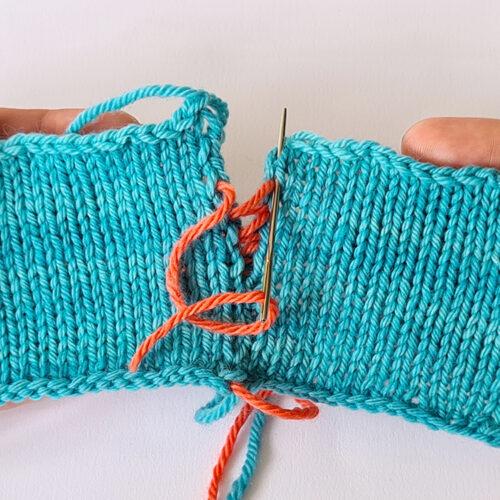 Matratzenstitch: Wie man zwei Strickstücke zusammen näht